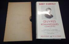 Pléiade Barbey d'Aurevilly Tome 1 avec jaquette  rhodoid et carton  1964