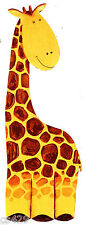 "10"" GIRAFFE JUNGLE ANIMAL   NURSERY WALL STICKER GLOSSY BORDER CHARACTER CUT OUT"