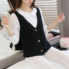Women Cardigan 1pc Sweater Casual Waistcoat Fashion Knitted V Neck Sleeveless