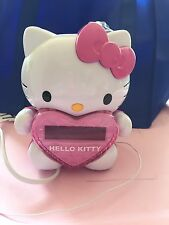 HELLO KITTY TIME ON WALL PROJECTION PROJECTOR AM/FM ALARM CLOCK RADIO