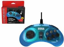 Sega Genesis 8-Button USB Port Controller [Clear Blue]