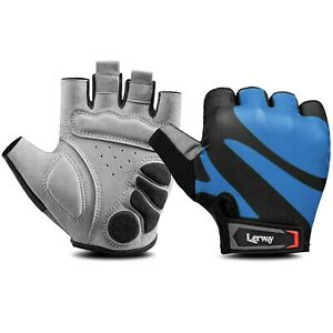 Lerway Cycling Gloves Half Finger Anti-Slip Breathable MTB Bicycle Gloves Unisex