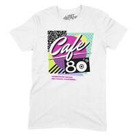 Back to the Future Cafe 80's T-Shirt   Unisex Novelty Movie Shirt Marty McFly