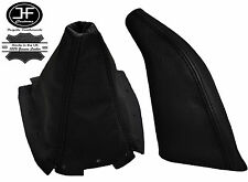 BLACK REAL LEATHER GEAR GAITER&HANDBRAKE GAITER FOR MAZDA MX5 MK2 NB 98-05