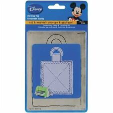 Provo Craft Cuttlebug Disney Die Cut and embossing folder Zig Zag Gift Tag Price