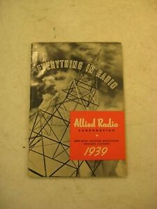 ALLIED RADIO 1939 EVERYTHING IN RADIO CATALOG 176 PAGES WITH PRICES