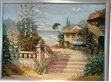 Wunderschönes Ölgemälde von Prof. August A. Wendehals Lago di Garda mit Urkunde