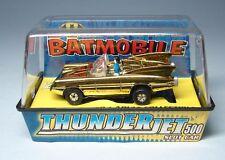 JL JOHNNY LIGHTNING BATMOBILE TJET HO SLOT CAR - MIB - DC COMIC - GOLD