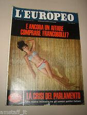 L'EUROPEO=1966/23=CLAUDINE AUGER JAMES BOND GIRL COVER MAGAZINE=FELICE IPPOLITO