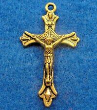 5Pcs. Tibetan Antique Gold Ornate 3D CROSS Crucifix Pendants Findings CR100