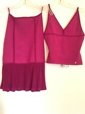 Herve Leger Matching Skirt and Top NEW! Tags Still On! XS Fuchsia