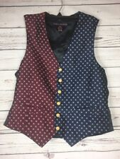 Vintage Tommy Hilfiger Men's Vest 4 Of July Stars Gold BTN Waist Coat Sz  38 S/M