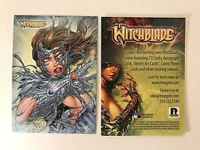 PROMO CARD: WITCHBLADE COMIC by BREYGENT 2013 RHODE ISLAND #Ri COMIC CON