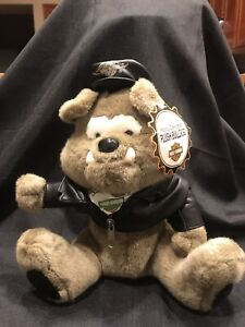 "Collectible Official Harley Davidson Bulldog 8"" Plush Soft Toy 1998"