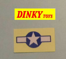 Dinky 734 P47 Thunderbolt authentic style gloss paper wing emblem
