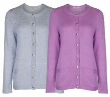 Marks and Spencer Cotton Patternless Long Sleeve Jumpers & Cardigans for Women