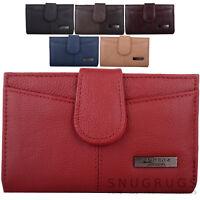 Ladies / Womens Leather Bi-Fold Money / Coin Holder / Purse Clip Frame Pocket