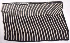 "Vera Ladies Scarf 14"" X 43"" Black/White Striped"