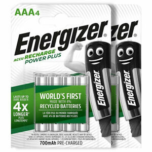 Energizer Power Plus AAA 700mAh batteries Rechargeable Ni-Mh 1.2V Accu HR03