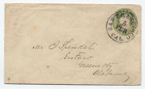 1850s U17a 10 cent nesbitt envelope San Francisco CA to Alabama [6026.40]