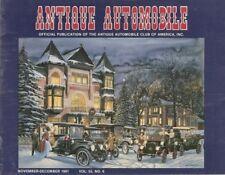 ANTIQUE AUTOMOBILE 1991 NOV - AACA MEETS, 32 PACKARD, INDEX 55