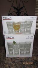 Mikasa Carroll Gate Old Fashioned Glasses and Highball Fine Crystal Nib