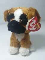 """Ty beanie boo Brutus the Boxer Dog 6"""" plush september 2nd tags"""