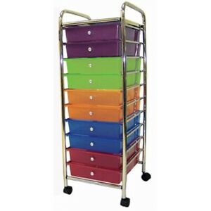 ECR4Kids 10 Drawer Mobile Organizer