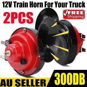 12V 300DB Super Train Horn For Trucks SUV Car Boat Motorcycles Speaker Treble AU