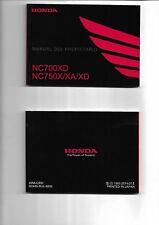 Manual del propietario HONDA NC700XD NC 750X/XA/XD  2014  ENVIO GRATIS