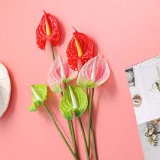 3Pcs Anthurium Branch Artificial Flowers Plastic Fake Plants Room Decoration
