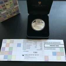 More details for rare 2019 periodic table tuvalu 1oz silver proof one dollar coin - perth mint