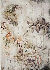 Carta di riso per Decoupage Decopatch Scrapbook Craft sheet Ornamento Bianco & Fiore