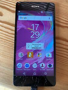 Téléphone Smartphone Sony Xperia E5 F3311 - 16 Go-Noir -Ecran HS reste OK -Vidé