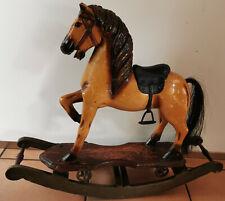 Altes Schaukelpferd Pferd Holzfigur Karusellpferd Holzpferd