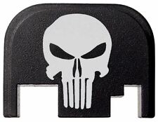 Tactical PUNISHER Skull Design Slide Cover Plate fits Glock by Fixxxer Gen 1-4