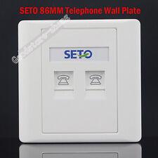 SETO Wall Socket Double Port Socket RJ11 Telephone Modular Jack Panel Faceplate
