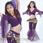9 color New Net yarn Blouse Top Belly Dance Costumes