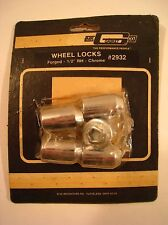 """Mr. Gasket Co. Wheels Locks  #2932 Forged 1/2"""" Right Hand - Chrome NOS Set"""