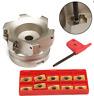 1pcs BAP 400R-80-27-6F 6Flute Indexable Face End Mill Cutter +10* APMT1604PDER