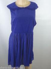 Maglie e camicie da donna senza maniche blu con colletto