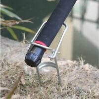 4x Fishing Rod Stand Support Bracket Rest Ground Holder Adjustable Pole Sea HOT