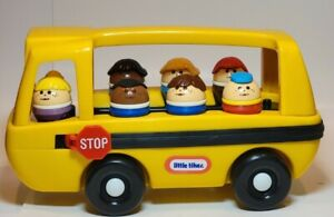 Little Tikes Toddler Tots Vintage School Bus with 7 Riders 1980's