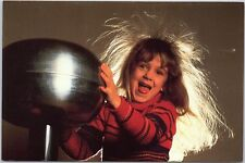 Postcard Girl touching Static Electricity Ball at Science Center Winston-Salem