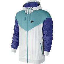 Nike Windrunner Jacket White Blue Purple Sz Large 727324-102