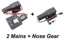 RC 90° Heavy Duty Mains & Nose Servoless Electric Retracts UpTo 5kg  (3pc Set)