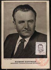 1948 Brno Czechoslovakia Maxi Postcard Cover President Klement Gottwald