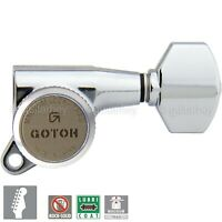 NEW Gotoh SG381-07 MGT Locking Tuners 6 in line Set Mini Keys 16:1 - CHROME