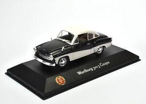 1:43 Atlas DDR Collection Wartburg 311-3 Coupe black/ white
