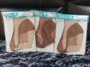 3 x Vintage BALLERINA Fully Fashioned FF Seamed Stockings Size 9.5 Burnt Spice